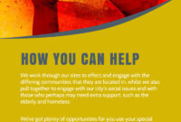 Be A Volunteer Church Flyer Template in Volunteer Brochure Template