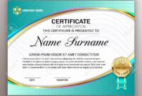 Beautiful Certificate Template Design With Best Award Symbol For Beautiful Certificate Templates