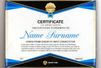 Beautiful Certificate Template Design With Best Award Symbol.. Inside Beautiful Certificate Templates