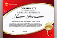 Beautiful Certificate Template Design With Best Award Symbol with regard to Beautiful Certificate Templates