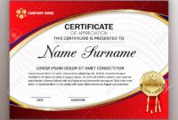 Beautiful Certificate Template Design With Best Award Symbol With Regard To Beautiful Certificate Templates