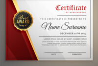Beautiful Certificate Template Design With Best inside Beautiful Certificate Templates