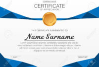 Beautiful Certificate Template. Vector Design For Award, Diploma throughout Beautiful Certificate Templates