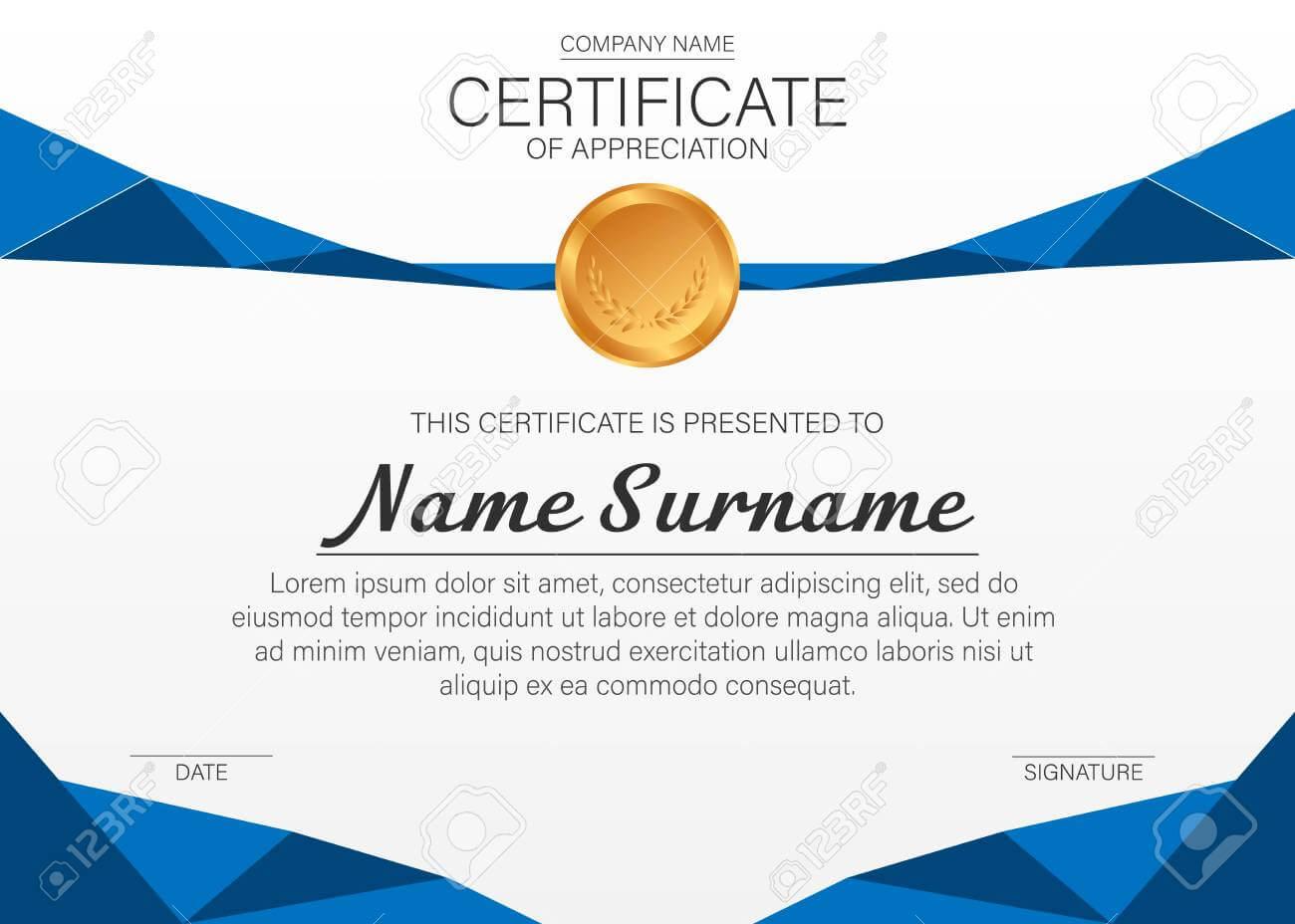 Beautiful Certificate Template. Vector Design For Award, Diploma Throughout Beautiful Certificate Templates