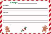 Beautiful Christmas Recipe Card Template Ideas Free throughout Cookie Exchange Recipe Card Template
