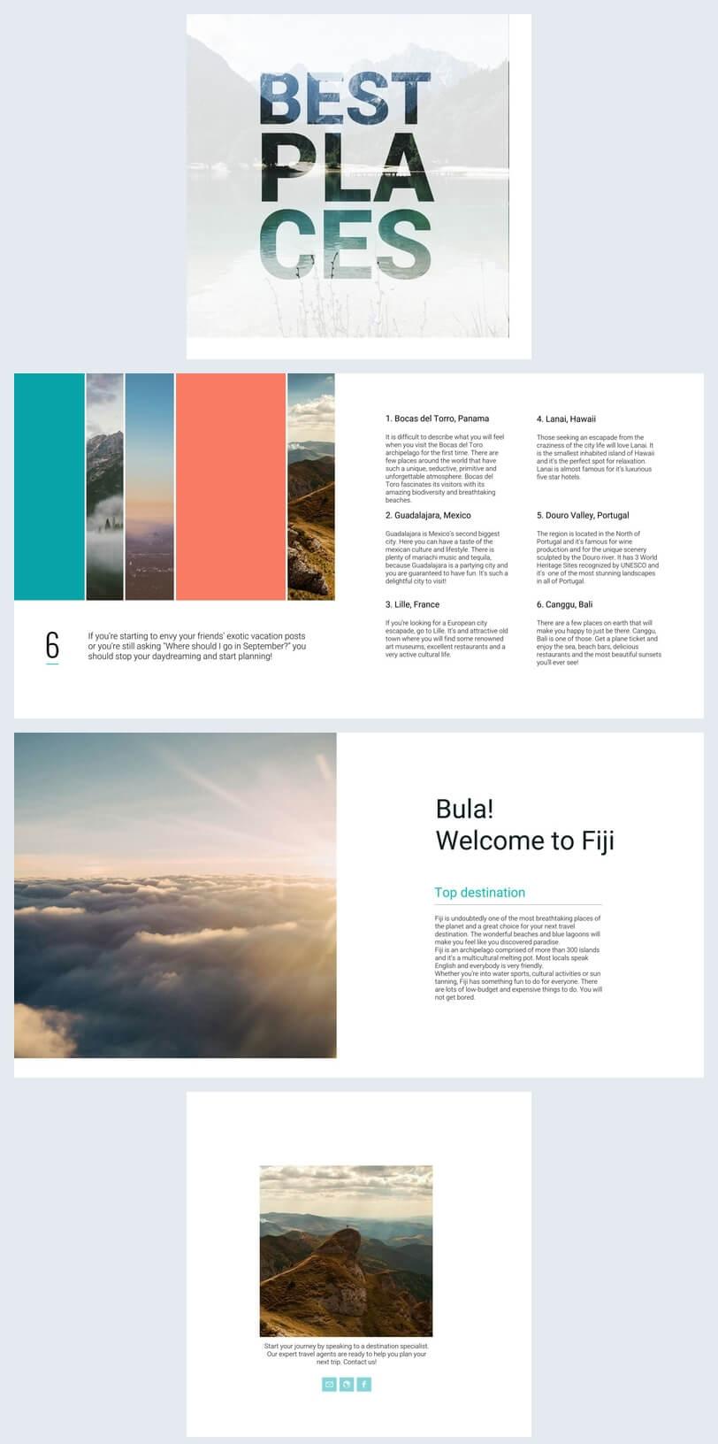 Beautiful Travel Guide Brochure Template - Flipsnack Inside Travel Guide Brochure Template