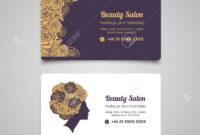 Beauty Salon Luxury Business Card Design Template With Beautiful.. regarding Hair Salon Business Card Template