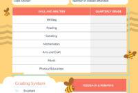 Bee Preschool Report Card Template – Visme in Preschool Weekly Report Template