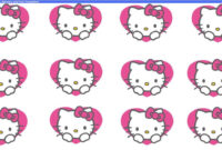 "Beegoo Designs: ""hello Kitty Hearts"" Background & ""hello inside Hello Kitty Banner Template"