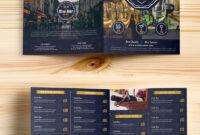 Beer And Wine Menu Bi-Fold Brochure Template Psd pertaining to Wine Brochure Template