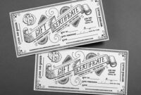 Bespoke, Hand-Drawn Illustrative Gift Certificates And regarding Tattoo Gift Certificate Template