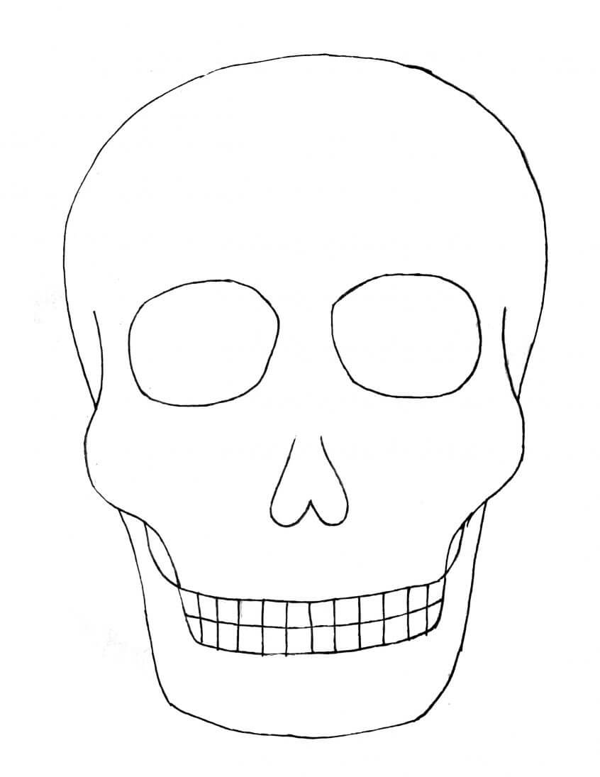 Best Coloring: Day Of The Sugar Skull Blank Template Skulls Within Blank Sugar Skull Template