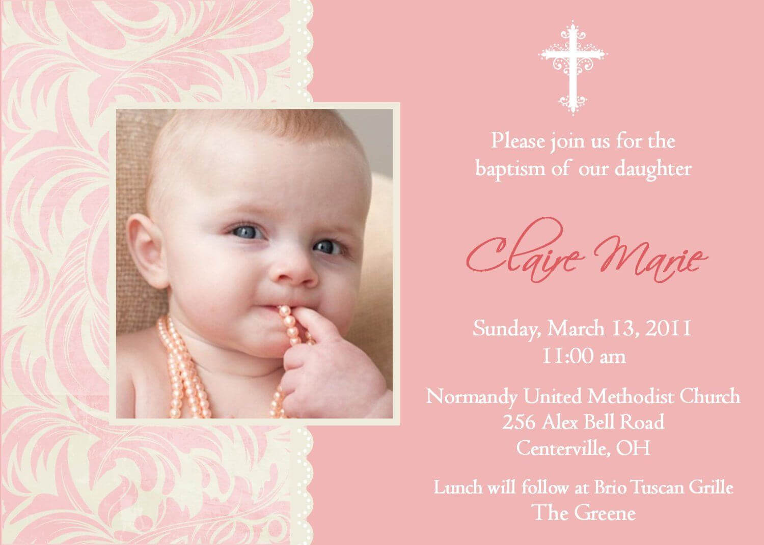 Best Font For Christening Invitation | Invitations Throughout Baptism Invitation Card Template