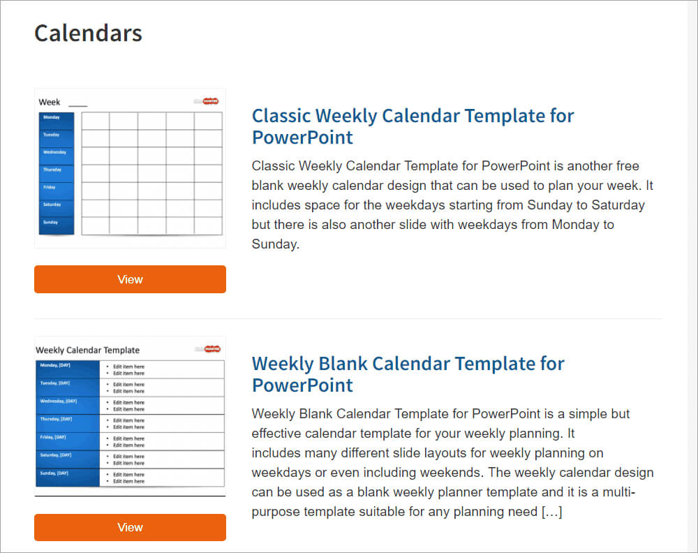 Best Free Powerpoint Calendar Templates On The Internet intended for Microsoft Powerpoint Calendar Template
