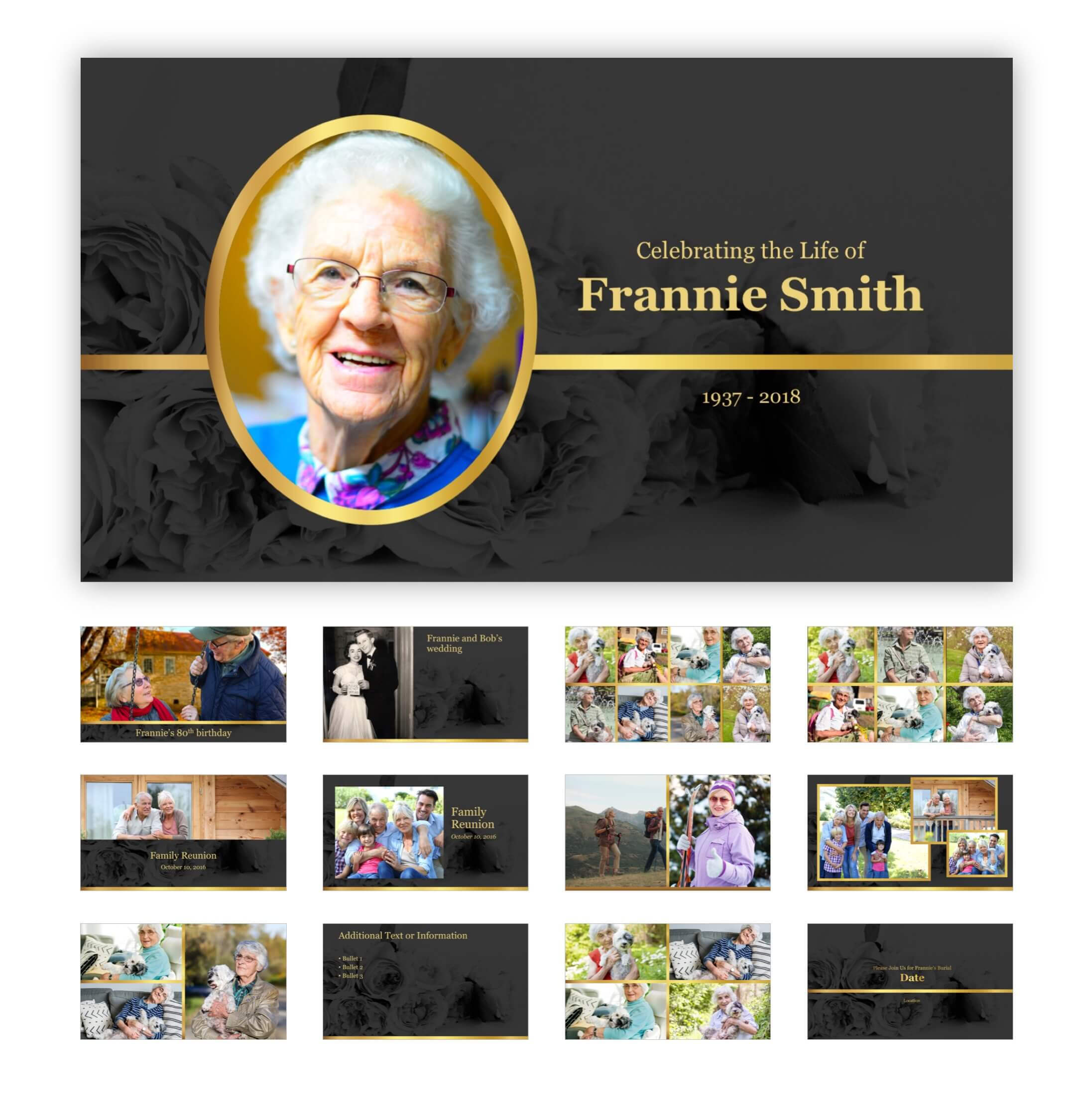 Best Funeral Powerpoint Templates Of 2019 | Adrienne Johnston In Funeral Powerpoint Templates