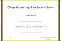 Best Ideas For Certification Of Participation Free Template in Certification Of Participation Free Template