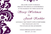 Best Invitation Cards : Unique Wedding Invitation Card regarding Church Wedding Invitation Card Template