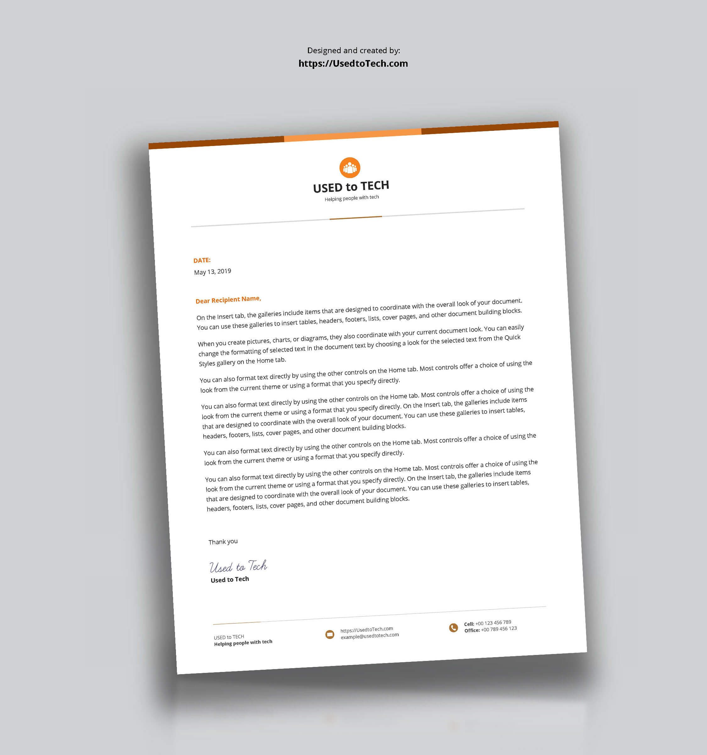 Best Letterhead Design In Microsoft Word - Used To Tech with regard to How To Create A Letterhead Template In Word