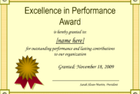 Best Performance Certificate Template – Atlantaauctionco in Best Performance Certificate Template