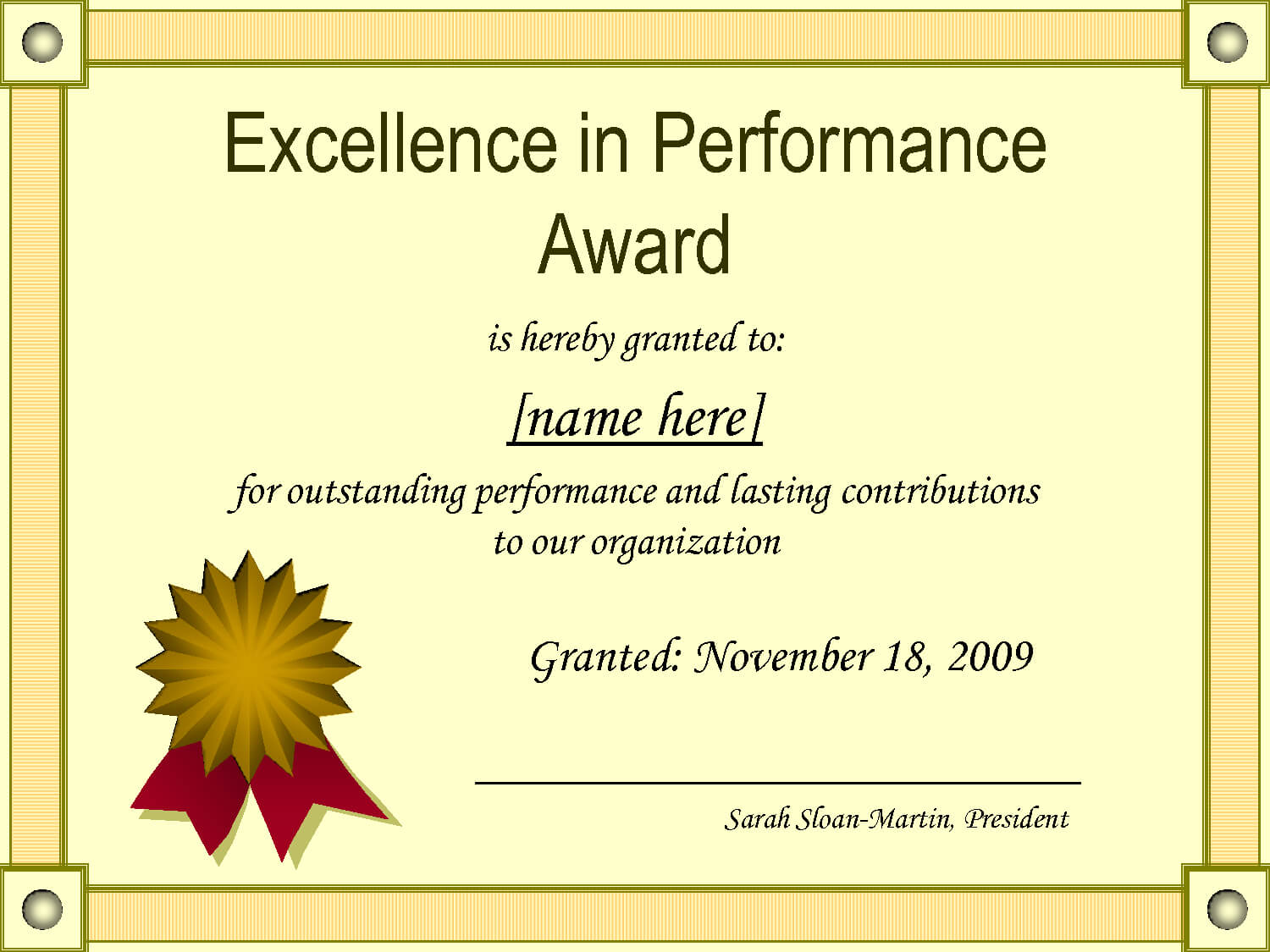Best Performance Certificate Template - Atlantaauctionco In Best Performance Certificate Template