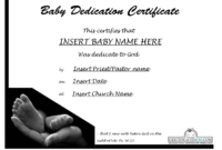Best Photos Of Baby Certificate Template – Free Printable throughout Baby Dedication Certificate Template