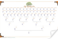 Best Photos Of Blank Family Tree Chart Template – Large within Blank Tree Diagram Template