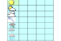 Best Photos Of Blank Weather Chart – Weekly Weather Chart throughout Kids Weather Report Template