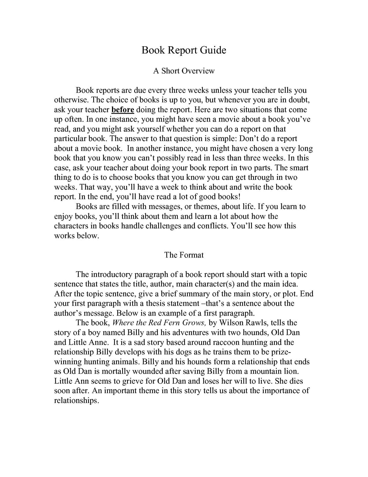 Best Photos Of Book Report Examples - College Book Report regarding College Book Report Template