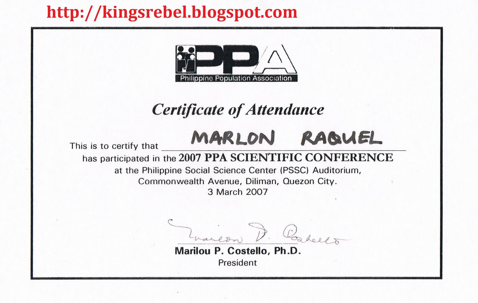 Best Photos Of Examples Of Certificate Of Attendance in Conference Certificate Of Attendance Template