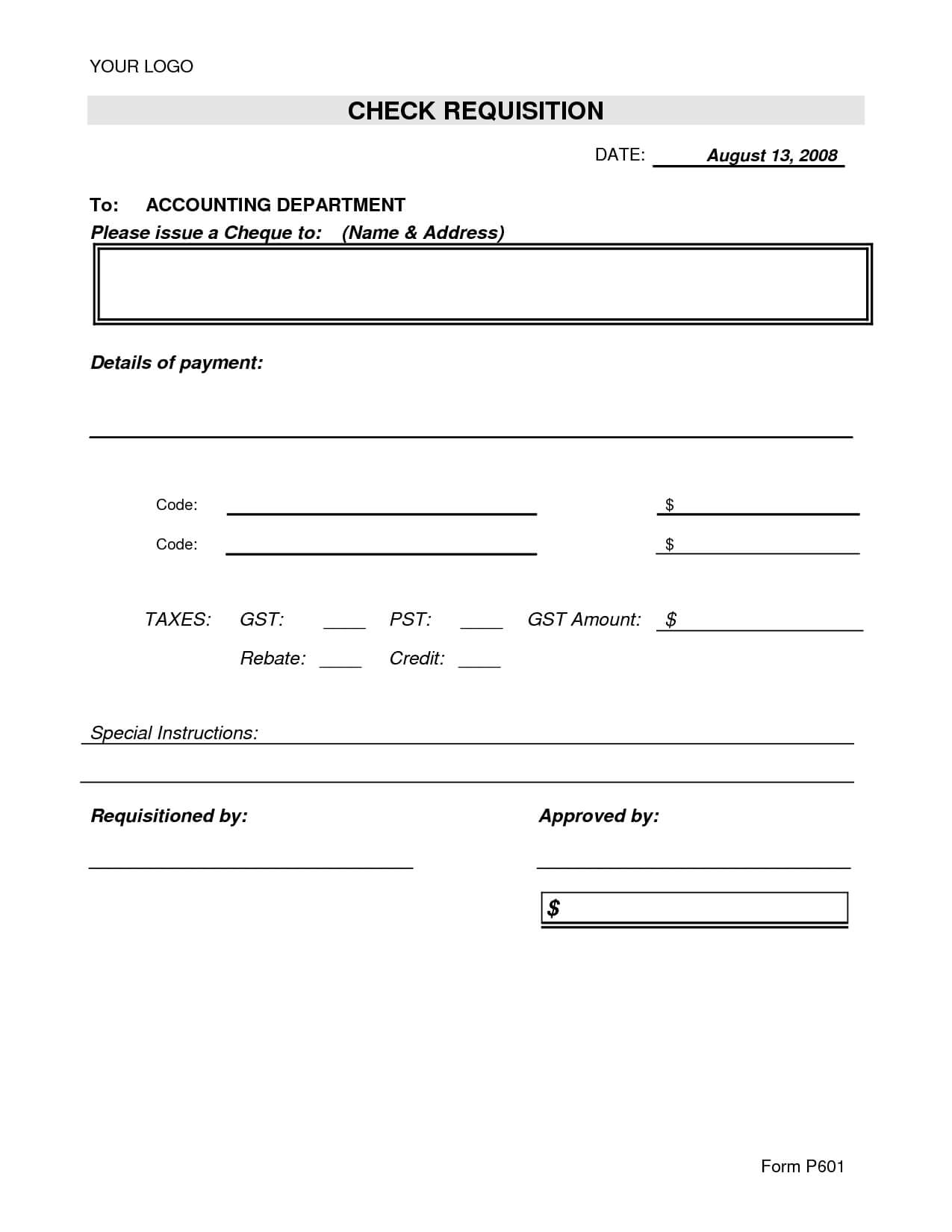 Best Photos Of Excel Check Request Form Template – Check Throughout Check Request Template Word