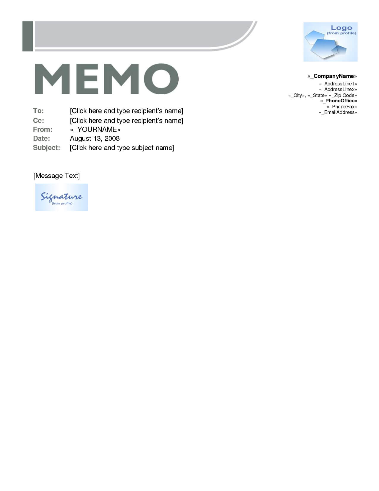 Best Photos Of Free Memo Templates Word Document - Microsoft pertaining to Memo Template Word 2010