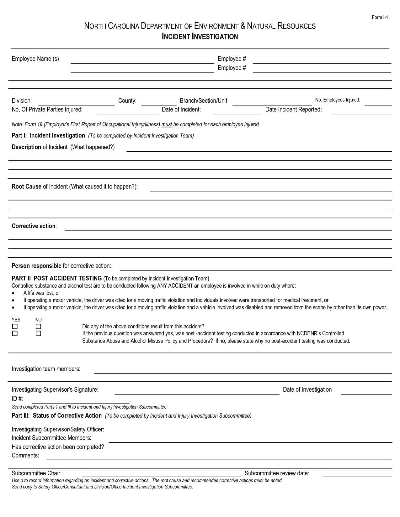 Best Photos Of Human Resources Incident Report Template regarding Ohs Incident Report Template Free
