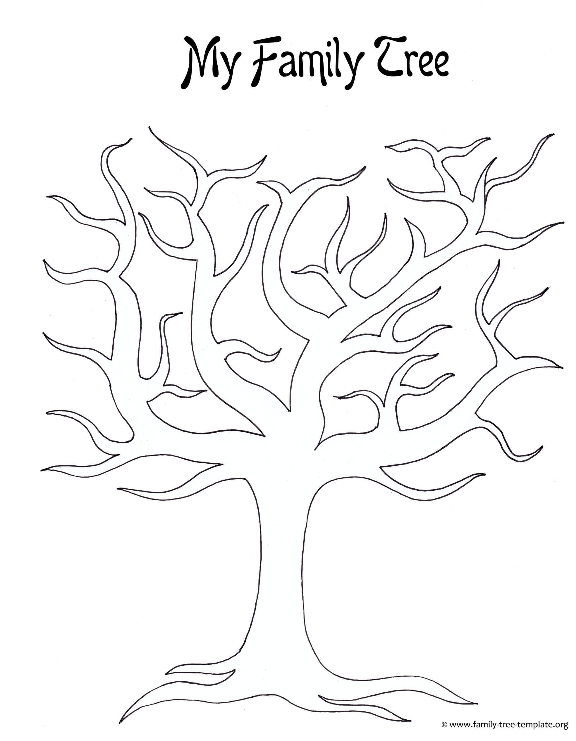 Best Photos Of Large Tree Template - Large Blank Family Tree pertaining to Blank Tree Diagram Template