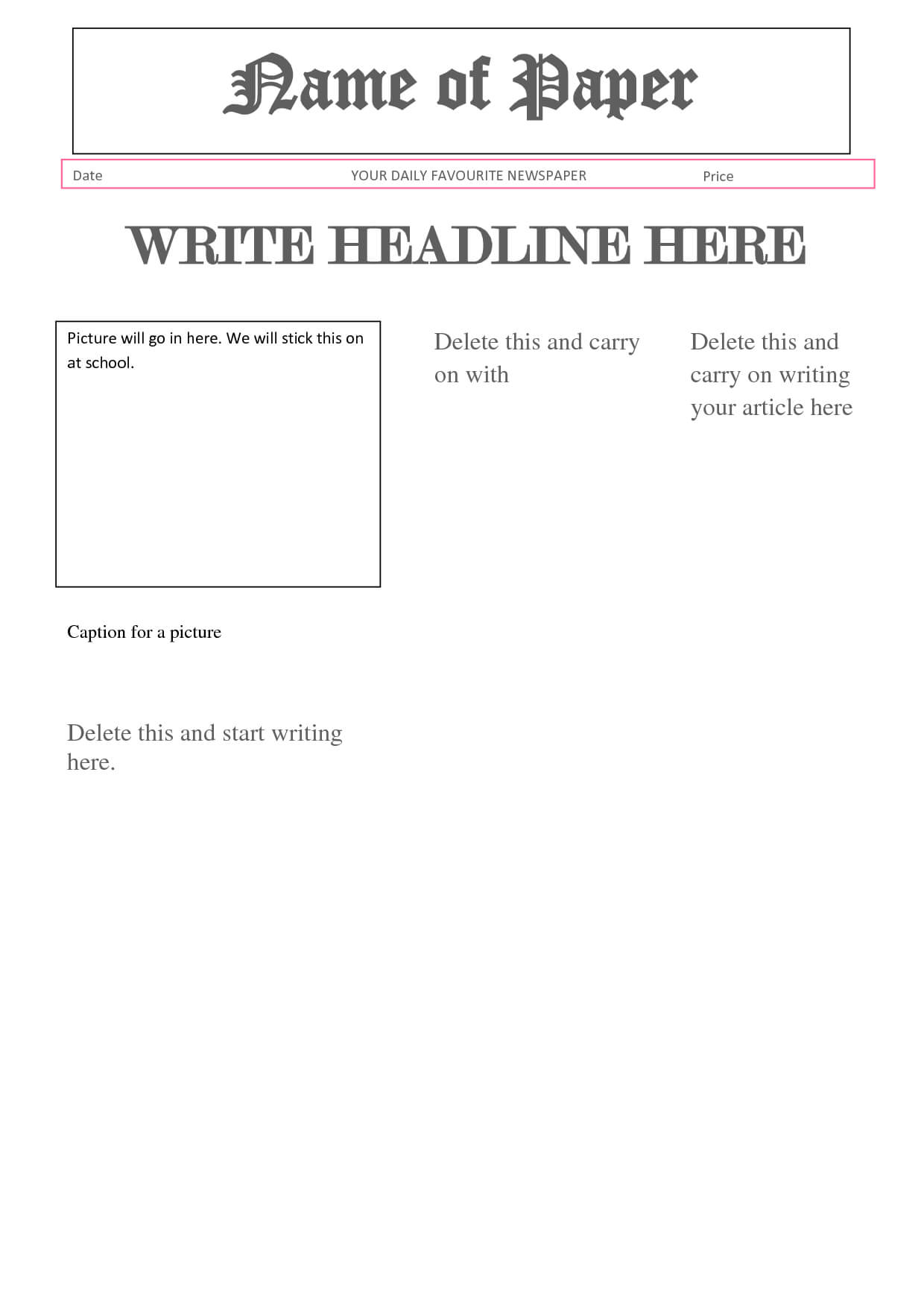 Best Photos Of Newspaper Report Format – Article Report Throughout News Report Template