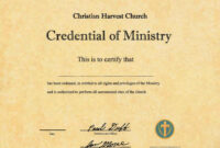 Best Photos Of Ordination Papers Template – Bishop for Certificate Of Ordination Template
