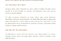 Best Photos Of Privacy Policy Template – Website Privacy with Credit Card Privacy Policy Template
