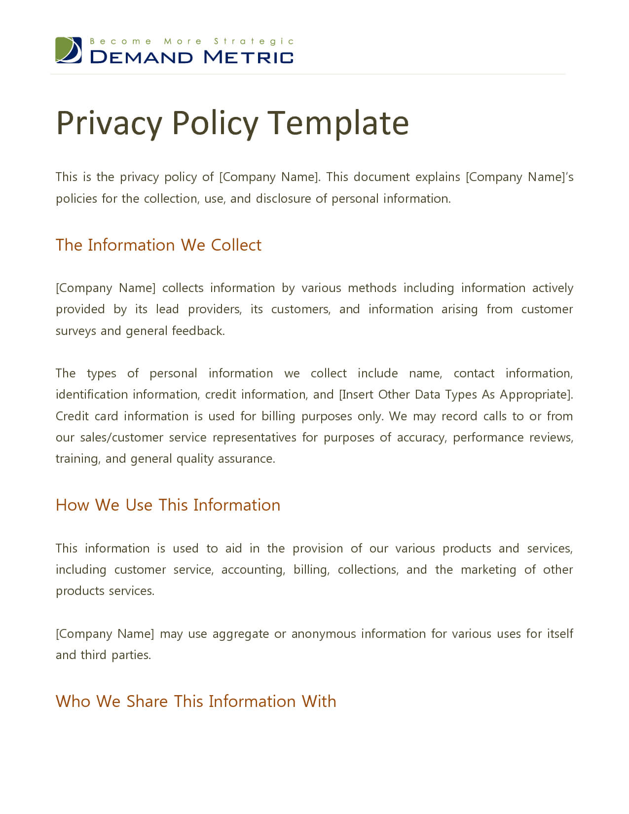 Best Photos Of Privacy Policy Template - Website Privacy with Credit Card Privacy Policy Template