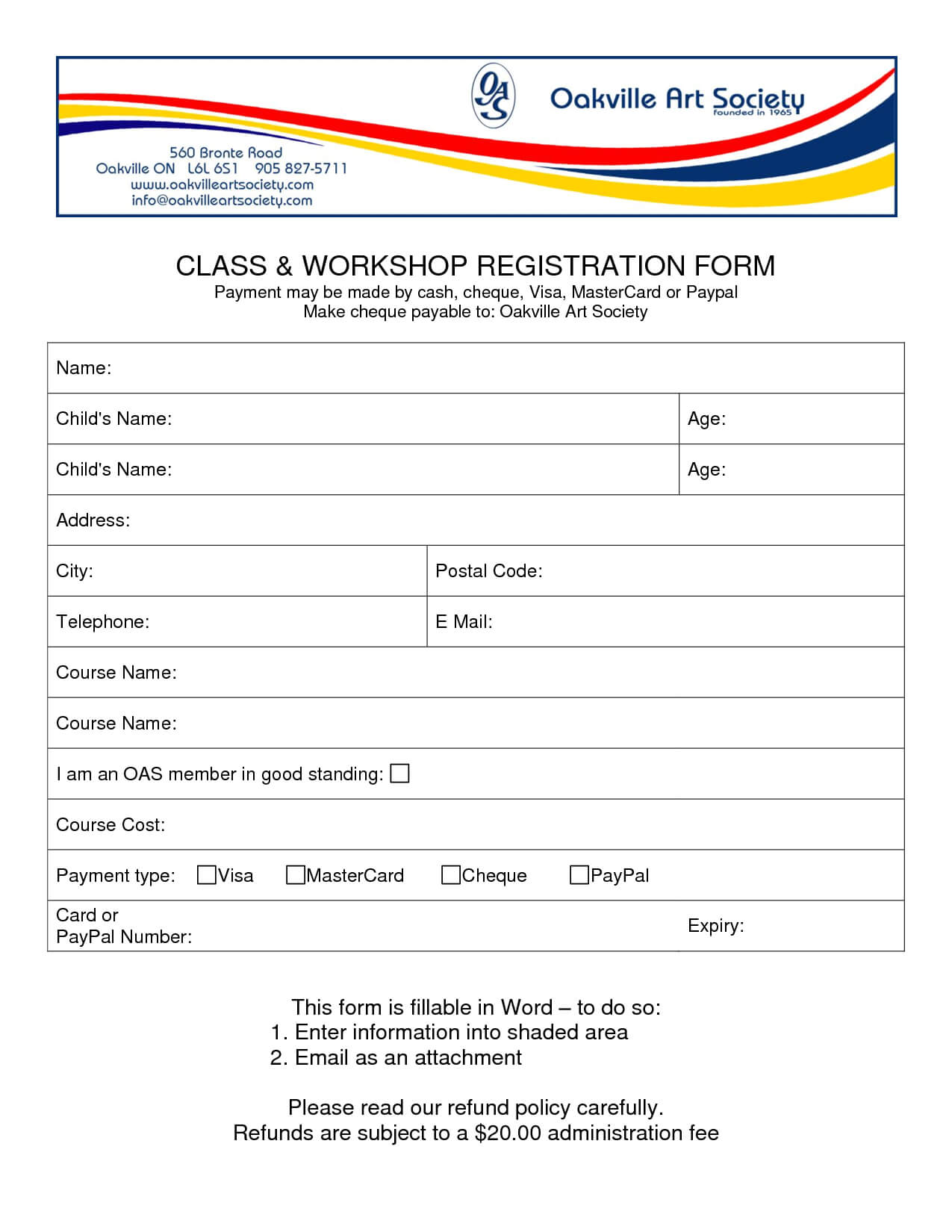 Best Photos Of Registration Form Template Word - Free for School Registration Form Template Word