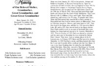 Best Photos Of Sample Obituary Formats Sample Obituary pertaining to Obituary Template Word Document