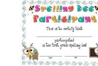 Best Photos Of Spelling Bee Award Certificate Template with Spelling Bee Award Certificate Template