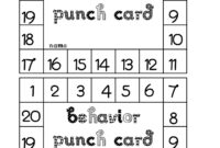 Best Photos Of Student Punch Card Template – Free Printable For Reward Punch Card Template