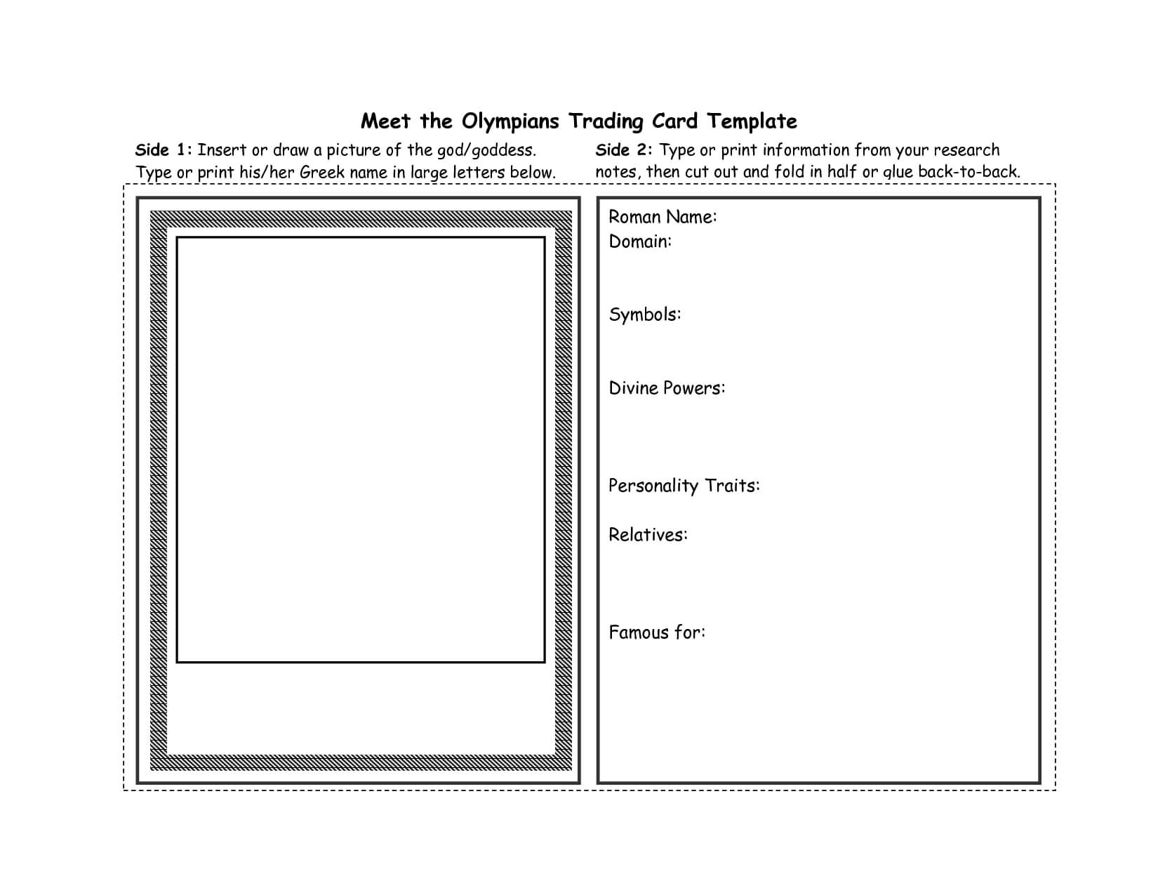 Best Photos Of Trading Card Template For Word - Trading Card in Free Sports Card Template