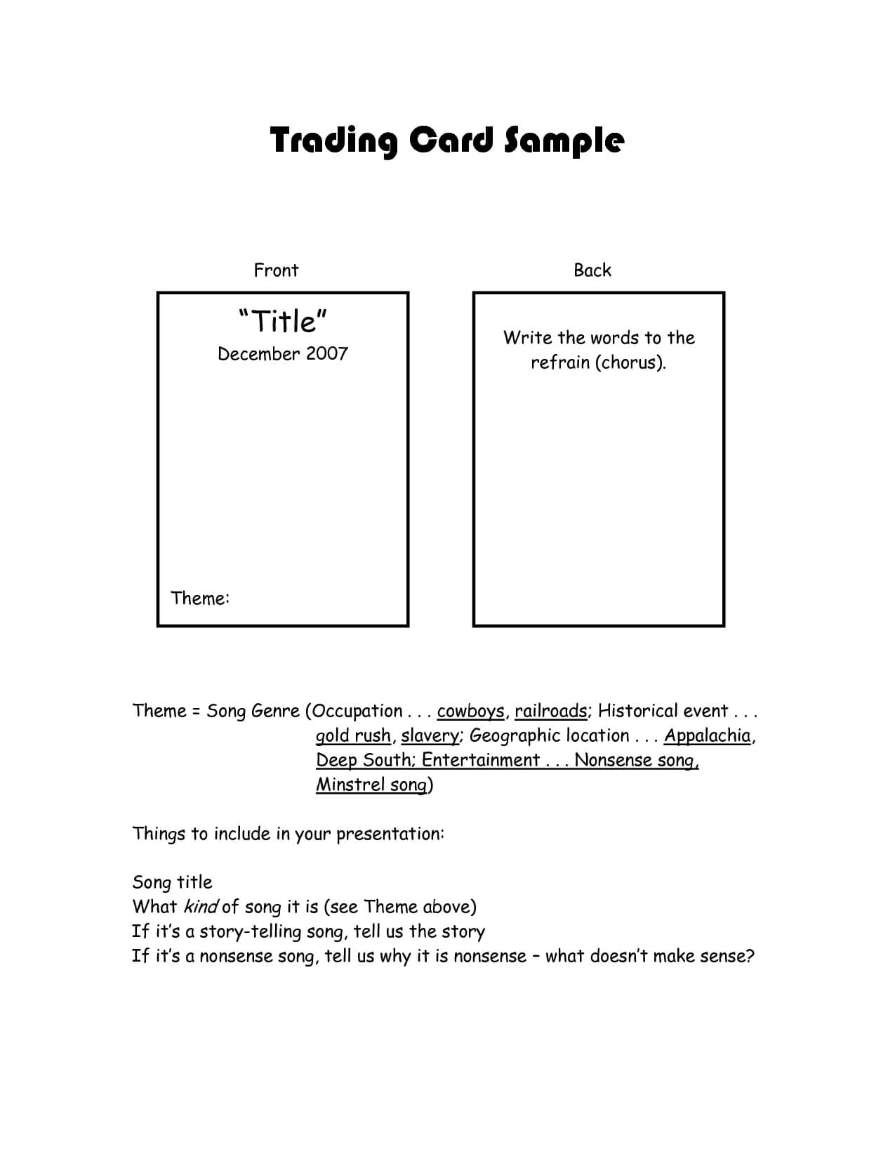 Best Photos Of Trading Card Template For Word - Trading Card pertaining to Superhero Trading Card Template