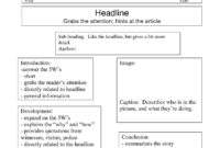 Best Photos Of Writing Newspaper Article Template intended for Best Report Format Template