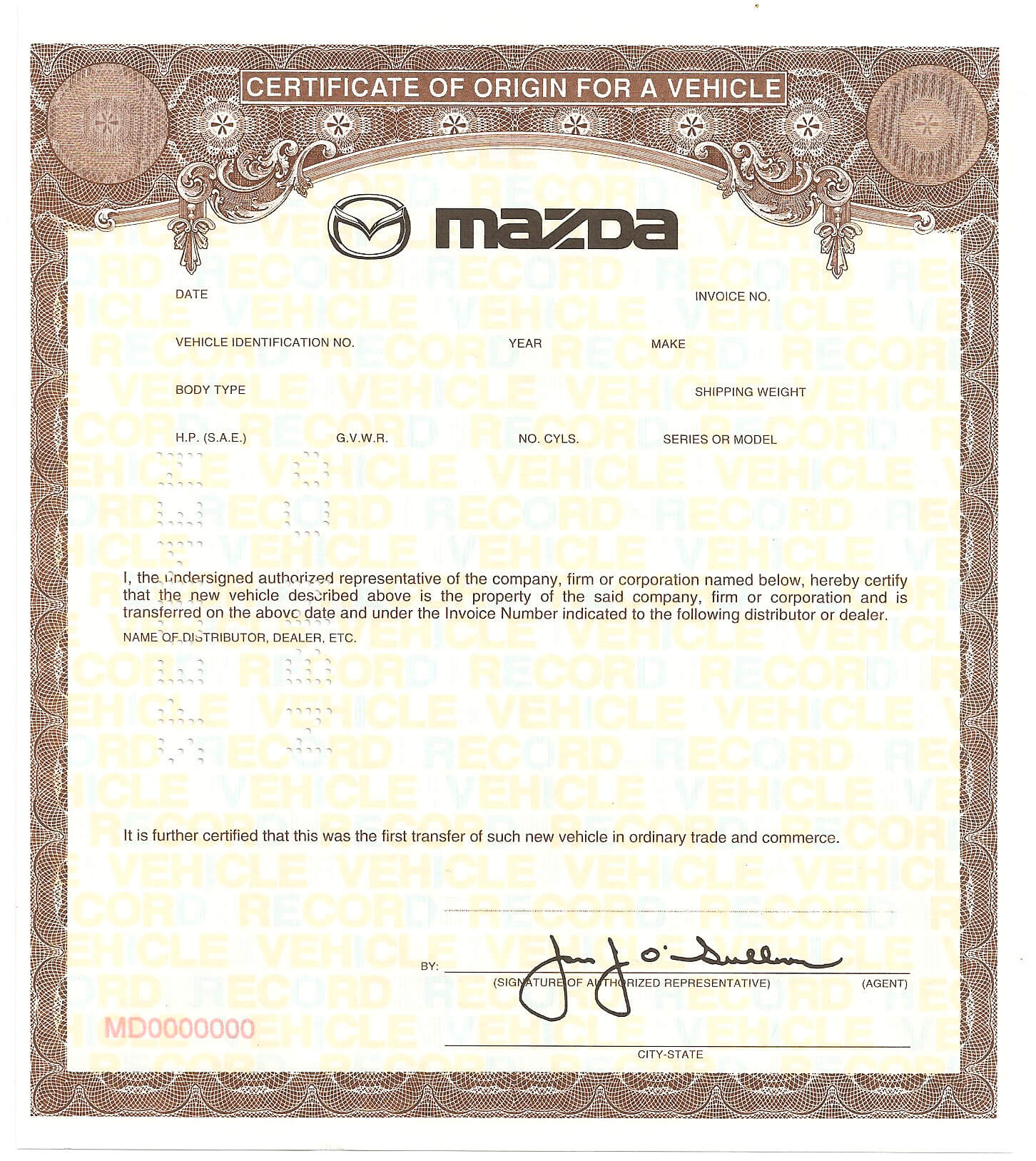 Best Solutions For Certificate Of Origin For A Vehicle For Certificate Of Origin For A Vehicle Template