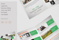 Bi Fold Brochure Template A4 Psd Free Download Illustrator pertaining to Two Fold Brochure Template Psd