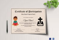 Bible Prophecy Program Certificate For Kids Template for Christian Certificate Template