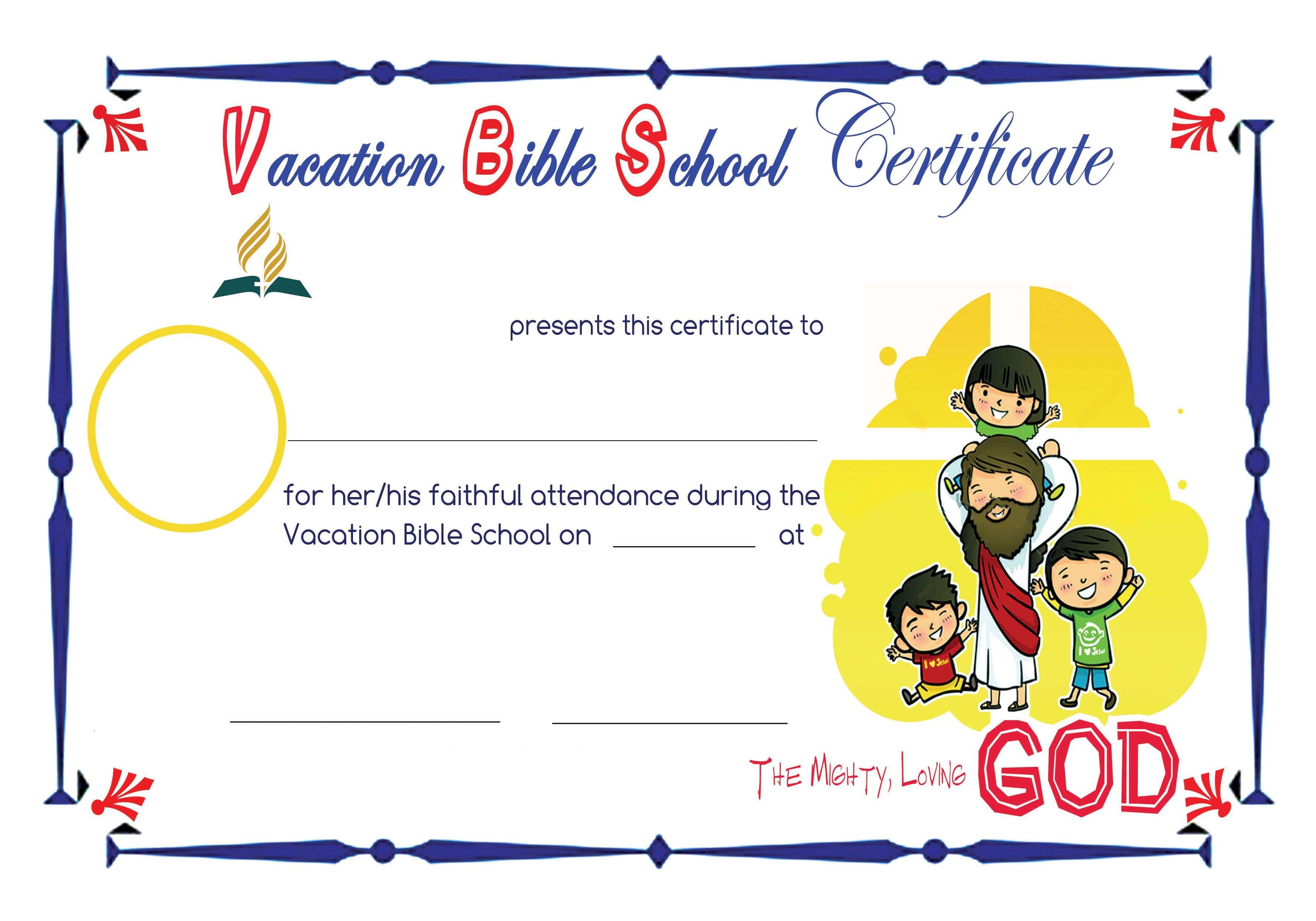 Bible School Certificates Pictures To Pin On Pinterest regarding Christian Certificate Template