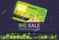 Big Sale For St. Patrick Day Holiday Poster Template Credit Regarding Credit Card Templates For Sale