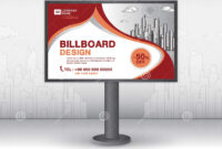 Billboard Banner Template Vector Design, Advertisement with Outdoor Banner Template